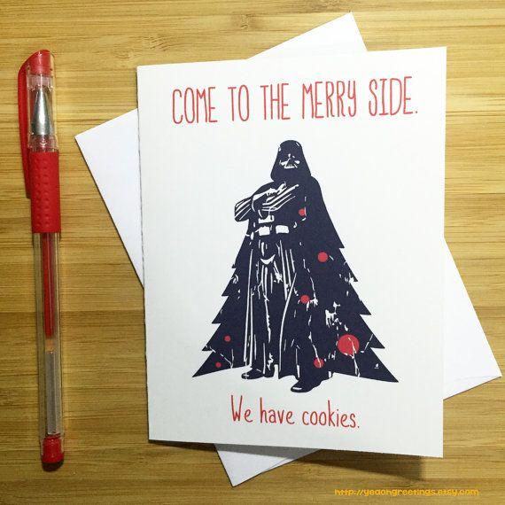 Star Wars Christmas Card Funny Christmas Card by YeaOhGreetings