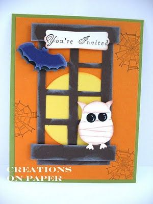 cute halloween card using owl punch wedding cards happy i do day wedding card by audreyann cards and paper crafts at splitcoaststampers mo - Photo Halloween Cards
