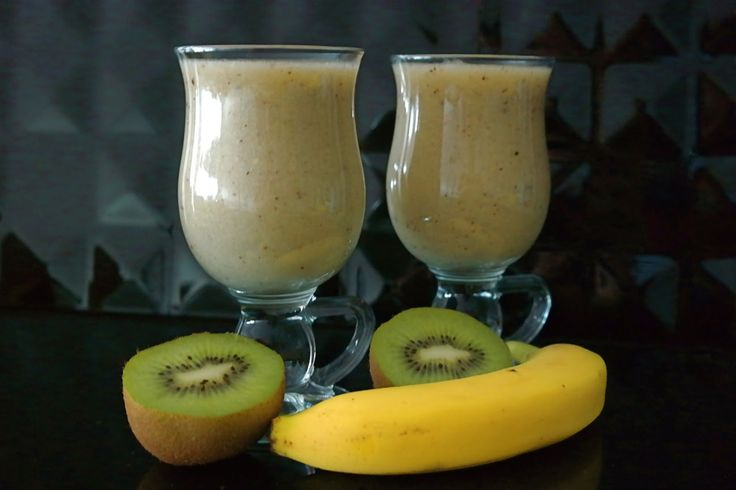 Sunflower - w wolnej chwili...: Koktajl melon, kiwi, banan