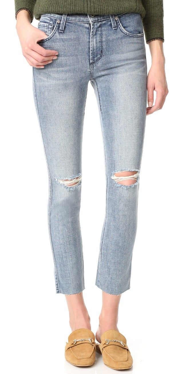 James Jeans Mid Rise Ankle Length Ciggy Jeans | SHOPBOP