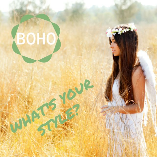 What's your wedding style? Are you a boho beauty? Think relaxed, natural elegance. Boho brides are the epitome of cool. #weddingstyle