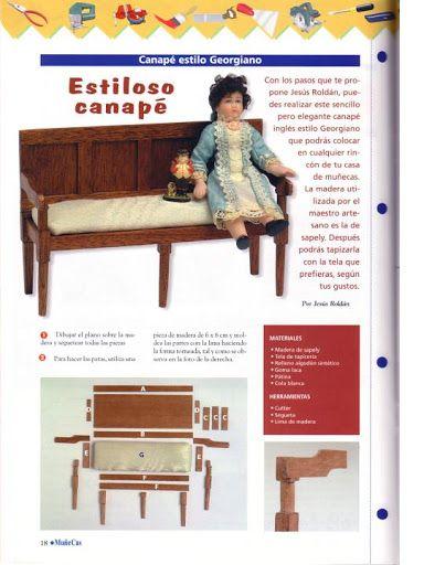 miniature dollhouse furniture woodworking. Sillas Y Sillones - Maria Jesús Álbuns Da Web Do Picasa · Miniature FurnitureDollhouse Dollhouse Furniture Woodworking