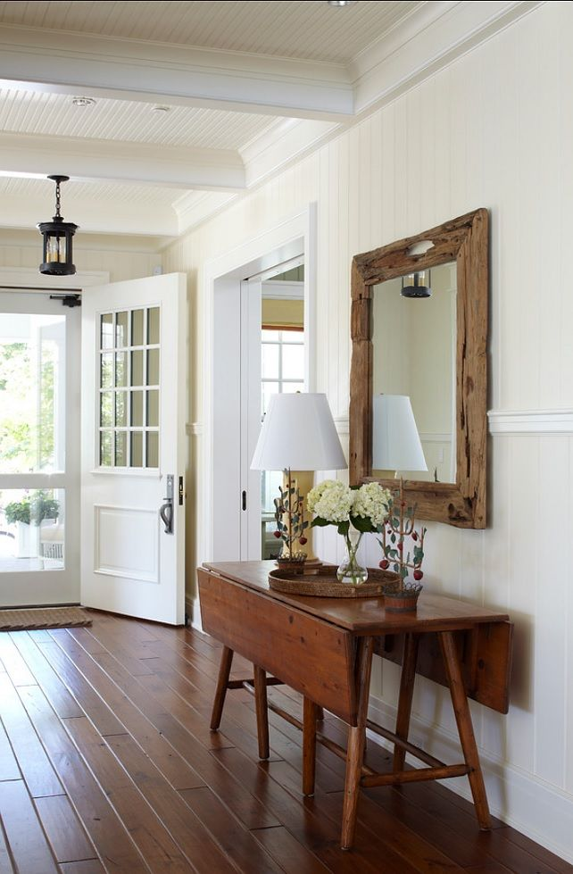 paint color: Benjamin Moore 'White Dove' Table, wainscotting