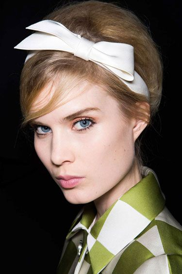 Topping It Off loius vuitton spring fashion 2013 i love the look of a teased gatsby bob with formal bow.
