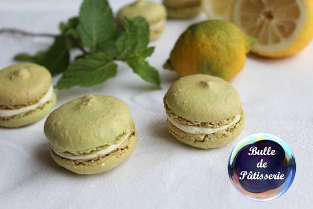 Macarons mojito-chocolat blanc
