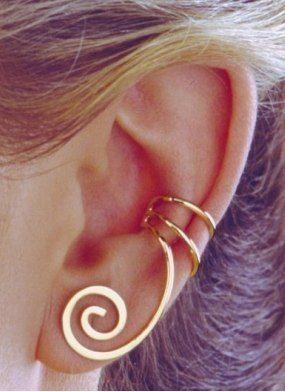 Spiral ear cuff