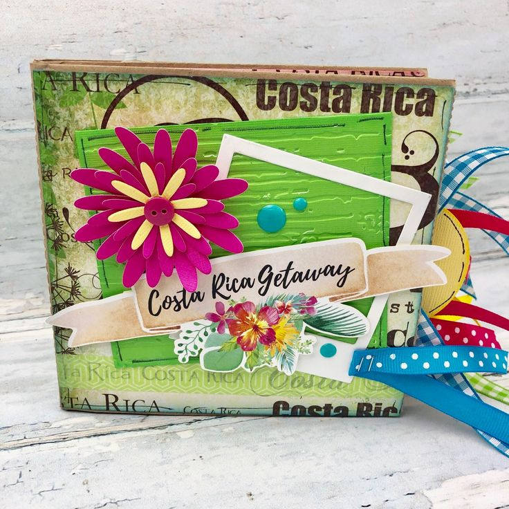 Costa rica vacation scrapbook beach trip mini photo album