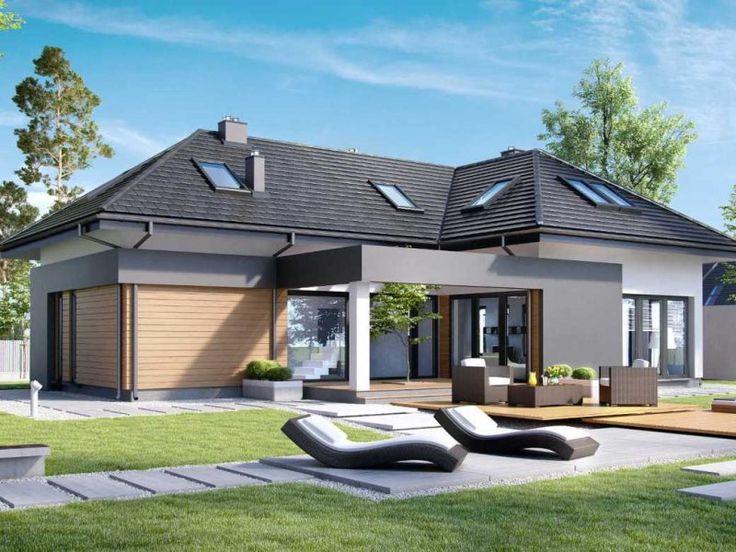 Nowoczesny i niewielki dom, którego atutem jest niezwykle umiejętnie zaprojektowana przestrzeń z maksymalnym wykorzystaniem powierzchni. Dzięki sporym przeszkleniom strefa dzienna jest wybitnie atrakcyjna.