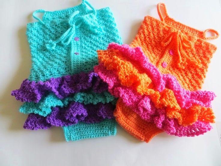 Baby Sun Suit Romper Crochet Pattern, Pdf Crochet Pattern, Newborn to 2 Years
