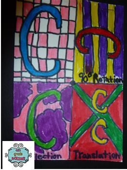 4th Grade Frolics: Rotations, Reflections, and Translations - Math Art!!
