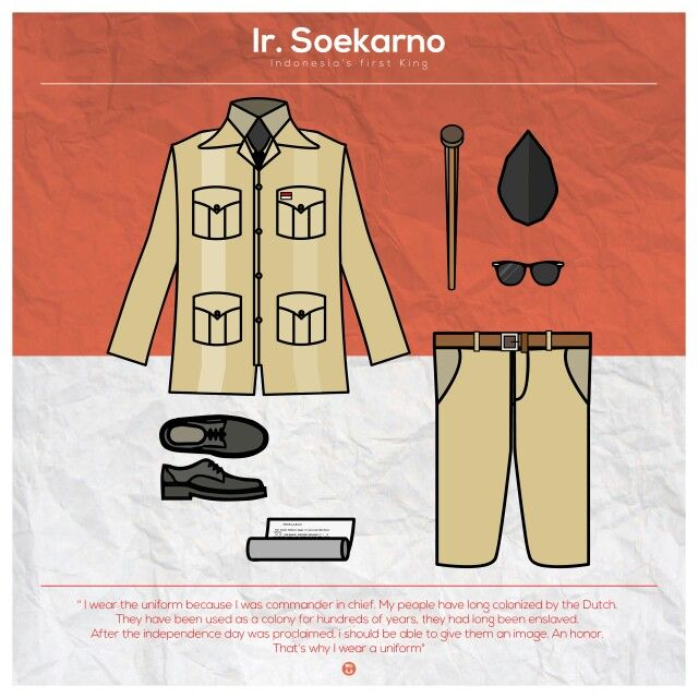 The first president of Indonesia's iconic outfit