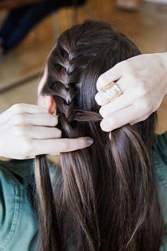 How to do a Katniss braid.