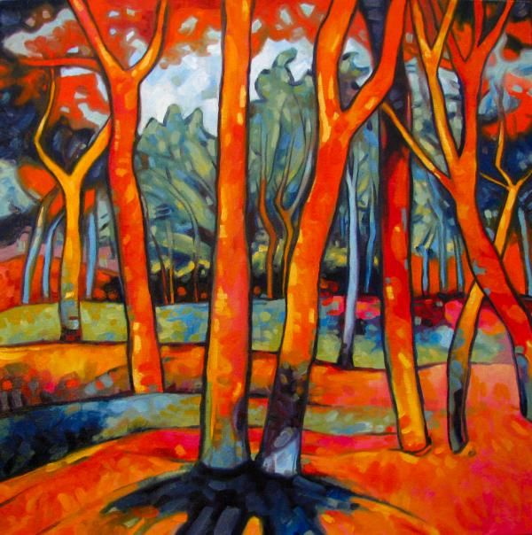 Fauvism Trees Painting  - Fauvism Trees Fine Art Print