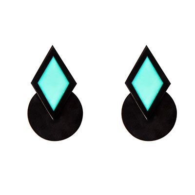 papiroga 7 Y MEDIO XXL Earrings   Earrings made out of high quality resin pieces performed from our own molds and hand carved, very light and finished by a 18kt gold plated hypoallergenic pin. Limited edition.