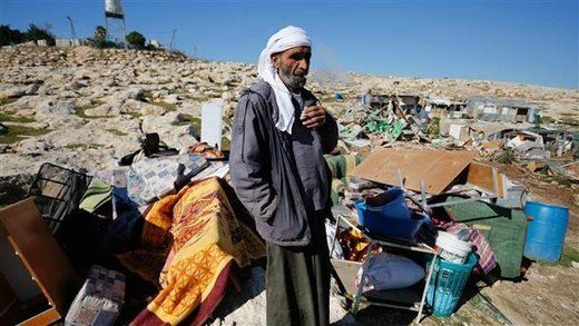 Press TV Wed, 06 Jan 2016 06:54 UTC © AFP Palestinian Bedouin surveys what remains of his home and belongings. Israeli forces have demolished five dwellings belonging to Palestinian Bedouin familie... http://winstonclose.me/2016/01/07/palestinian-bedouin-village-bulldozed-in-israels-path-of-destruction-written-by-sott-net/