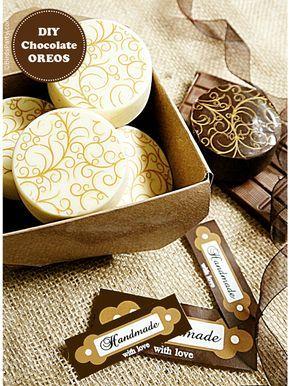 Blog Partido de Pájaro: Pastel de que Pretty: Cómo hacer chocolate Oreos cubiertos + Imprimibles GRATIS