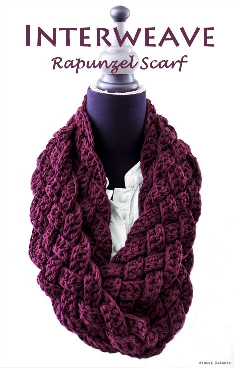 How beautiful and luscious is this crochet scarf? The color is right on trend for Fall 2013.