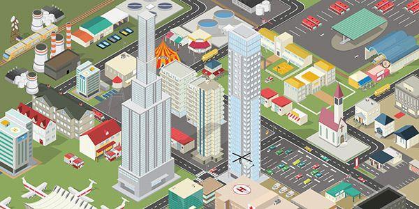 Isometric City Maps Builder on Behance