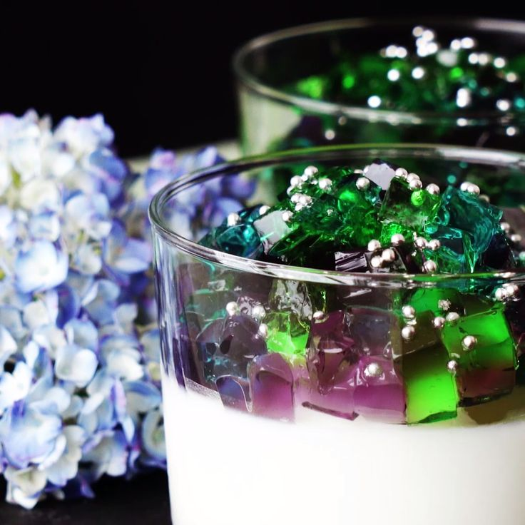 How to make Hydrangea and Calpis Gelatin Dessert