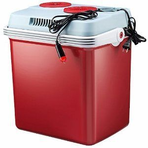 http://Amazon.com: Knox 27 Quart Electric Car Refrigerator Cooler and Food Warmer (Red) with Built in Car and House Plug: Kitchen & Dining