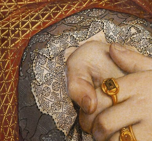 detail of Jane Seymour, Queen Of England, Hans Holbein the Elder, 1536