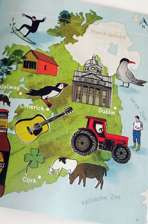 Pau Map%0A Illustrated Map of Ireland for bank ABN AMRO by Holly Wales