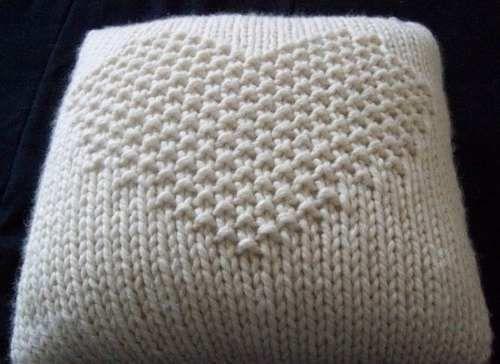 almohadones tejidos a dos agujas