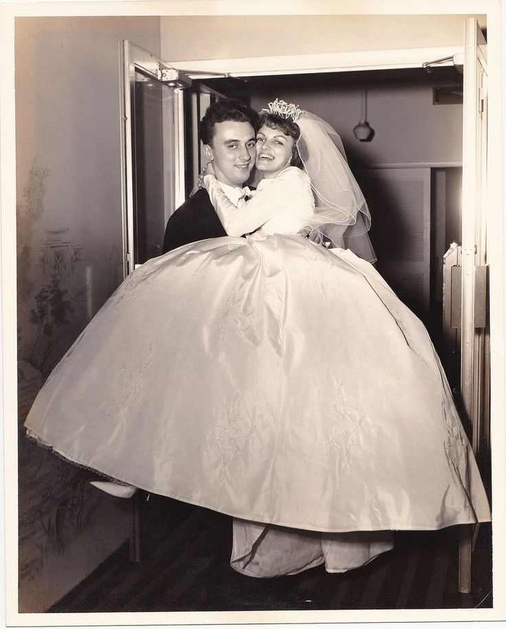 Old Vintage Antique Photograph Wedding Groom Carrying