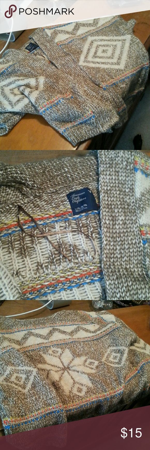 Tribal Sweater Kind of heavy. Super soft. No holes or runs. American Eagle Outfitters Sweaters Cardigans