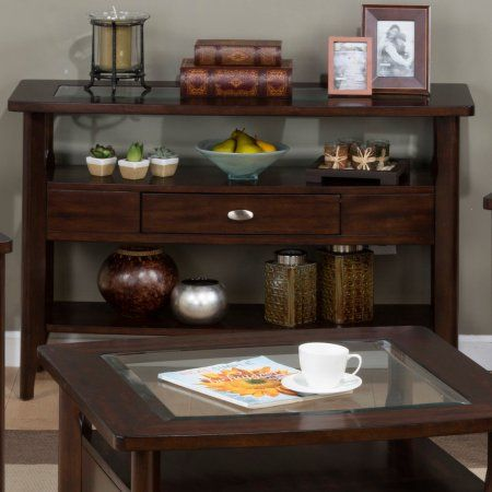 Jofran Montego Sofa Table - Montego Merlot