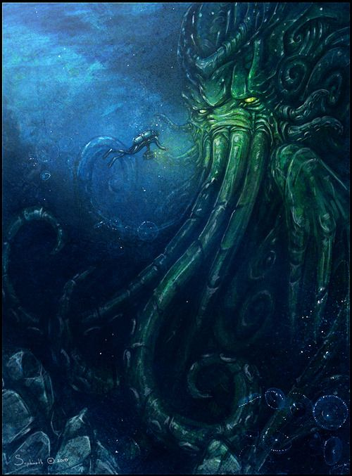 Cthulhu this is why I am afraid of the ocean