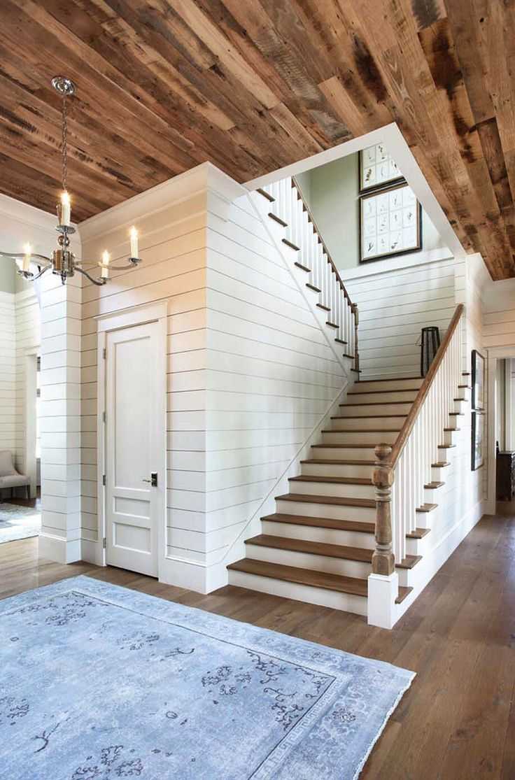 Cottage Style Bright Whites Wood Wall