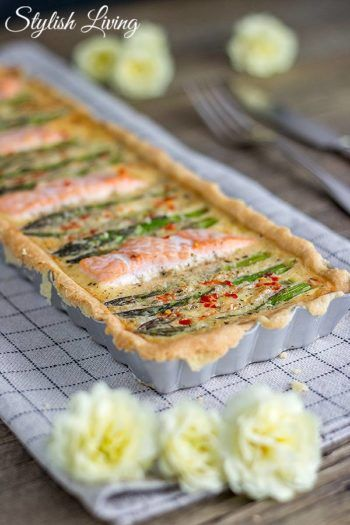 Spargel-Lachs-Tarte … und dazu Blanchet [Sponsored Post
