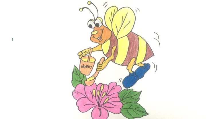 How to draw Worker bee  - Art For kids