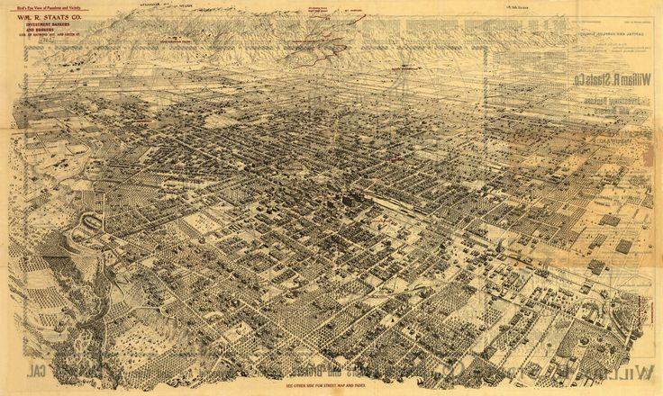 Bird's eye view of Pasadena California and vicinity. 1903 Year: 1903 City: Pasadena County: Los Angeles State: California Country: United States