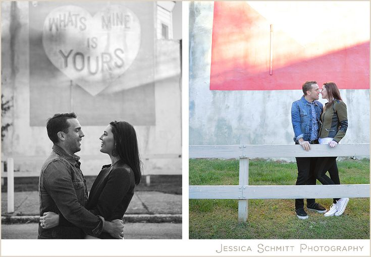 "Philly love letter wall murals engagement session. West Philadelphia. ""Whats Mine is Yours"" Philadelphia wedding engagement photography."