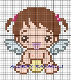 Baby angel perler bead pattern by Drayzinha