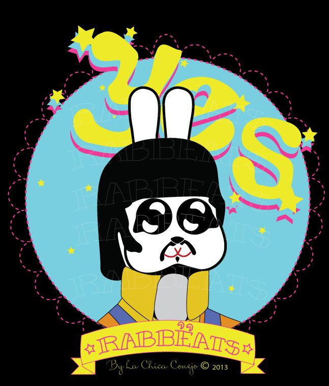 Ringo Rabbëat* Yellow Submarine_Special Edition* Rabbëats by La Chica Conejo © 2013 All Rights Reserved #ringostar #yellowsubmarine #poster #totebags #tshirts #rabbeatsbylachicaconejo #rabbeats #specialedition #yellowsubmarine #canyoupasstheacidtest #camafeos #cameos #rings #tshirts #personajes #anillos #totebags #rabbeatsbylachicaconejo