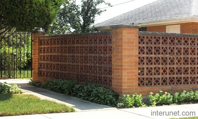 brick fence decorative block garden ideas pinterest tegelstenar taggar och bilder - Brick Wall Fence Designs