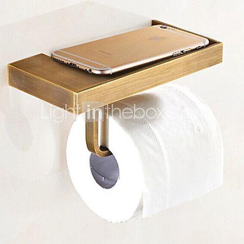 Toalettpappershållare,Antik Antik mässing Väggmonterad - SEK kr374