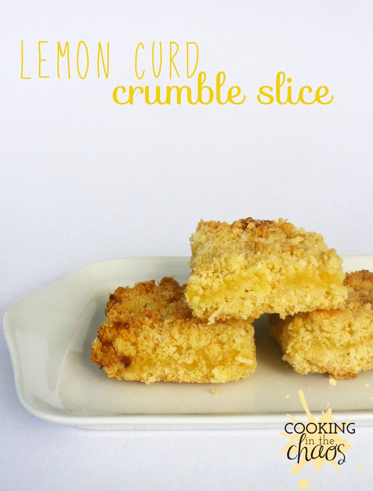 Lemon Curd Crumble Slice Thermomix
