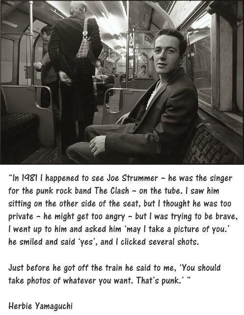 Joe Strummer of the Clash on the Tube in London. #publictransit #punk via Taras Grescoe
