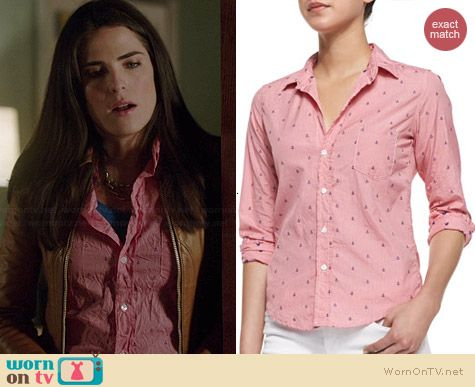 3a402709ed18c2 Laurel s pink anchor print shirt on How to Get Away with Murder