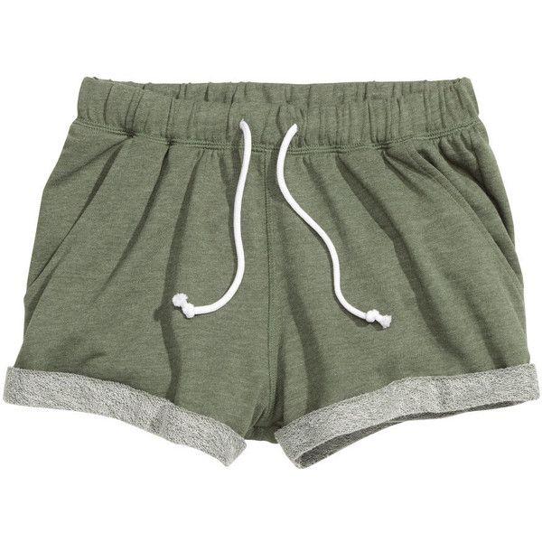 Sweatshorts $12.99 (€12) ❤ liked on Polyvore featuring shorts, bottoms, short, pants, short hot pants, micro shorts, mini shorts, cuffed shorts and mini short shorts