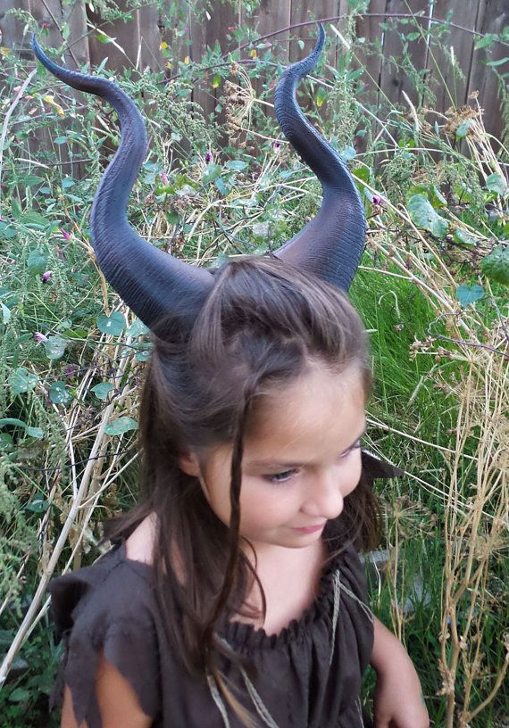 NEW DESIGN Young Maleficent Inspired Horns by MudpiesandMajesty