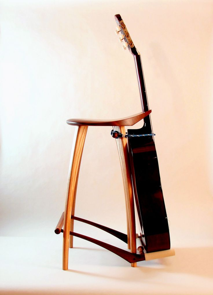 Elegant guitar stand stool