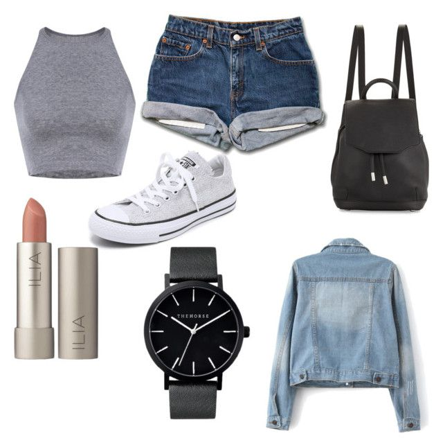 """Theme Park Outfit."" by jazreynaga ❤ liked on Polyvore featuring Converse, rag & bone, Ilia, The Horse, outfit and themepark"