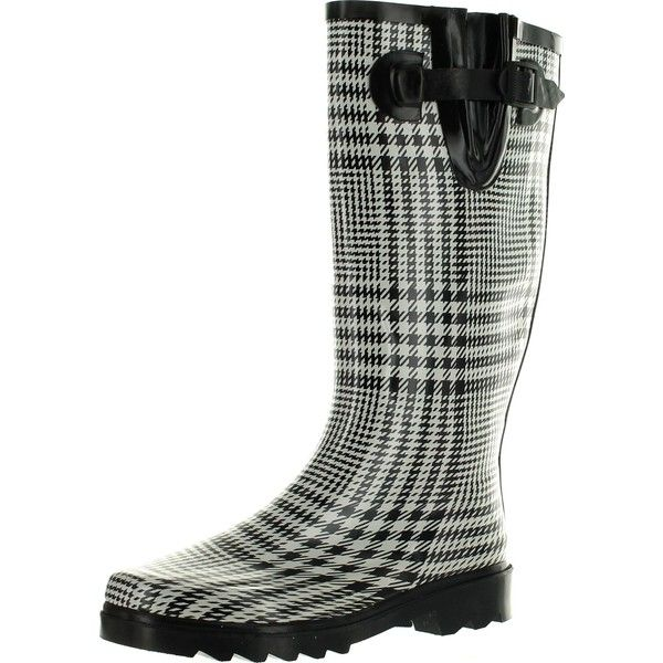 Static Footwear Womens Raindrops Fashion Waterproof Rainboots Many... (€31) ❤ liked on Polyvore featuring shoes, waterproof wellington boots, patterned rain boots, waterproof rain boots, black and white print shoes and waterproof footwear