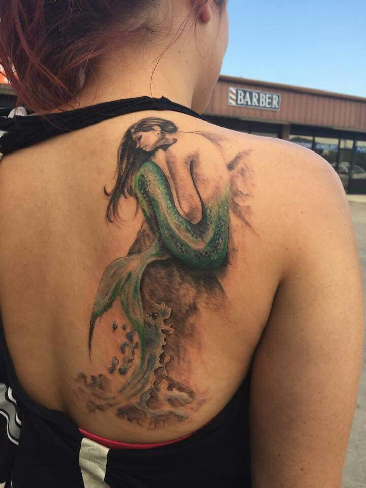 Katies mermaid tattoo #mermaid #tattoo