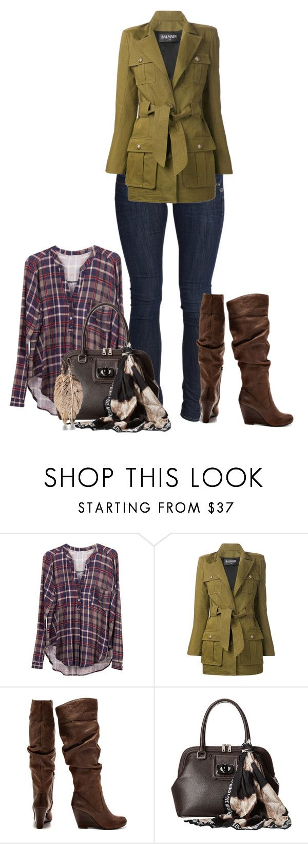 """""""Fall days"""" by brileila ❤ liked on Polyvore featuring Lush Clothing, Balmain, Jessica Simpson and Love Moschino"""